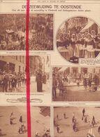 Orig. Knipsel Coupure Tijdschrift Magazine - De Zeewijding Te Oostende - 1928 - Alte Papiere