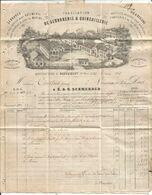 HAUT RHIN N°22 GC 889 LA CHAPELLE S ROUGEMENT + OR BELLE LETTRE AVEC FACTURE MANUFACTURE DE ROUGEMONT 26.3.1867 - 1849-1876: Periodo Clásico
