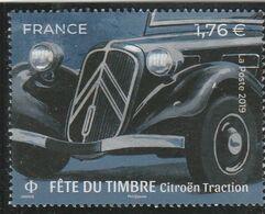 FRANCE 2019 ISSU DU BLOC FETE DU TIMBRE CITROEN TRACTION OBLITERE YT5303 - France