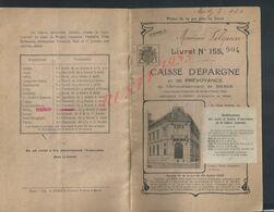 ANCIEN LIVRET BANQUE CAISSE D EPARGNE DE PRÉVOYANCE DE MEAUX DE Mr FILQUIN MAURICE SUCCURSALE MAIRIE D ESBLY 1934 : - Banca & Assicurazione