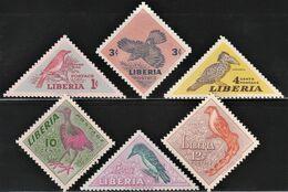 1953 Liberia Birds Set (** / MNH / UMM) - Passereaux