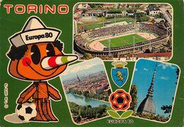 """01843 """"TORINO - CAMPIONATO DI CALCIO EUROPA '80"""" STADIO, MOLE, FIUME PO. CART NON SPED - Stadiums & Sporting Infrastructures"""