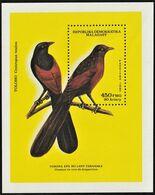 1987 Malagasy Malagasy Coucal Souvenir Sheet (** / MNH / UMM) - Passereaux
