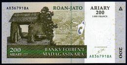 Madagascar 2004 200 Ariary UNC Neuf Parfait - Madagascar
