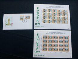 EUROPA -CEPT 1978 EUROPA CEPT  FDC's BALIWICK OF GUERSEY - Europa-CEPT