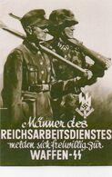 DC3159 - WW2 Germany Propaganda Deutschland 2. Weltkrieg - SS Soldat Reichsarbeiterdienst Waffen-SS REPRO - War 1939-45