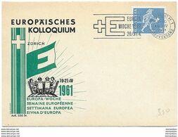 """166 - 76 - Carte PEN Avec Oblit Mécanique """"Semaine Européenne"""" 1961 - Europese Gedachte"""