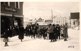 "Pontresina, Fastnacht, Gesellschaft Vor Dem Geschäft ""E. Giere-Zappa"", Um 1930 - GR Grisons"