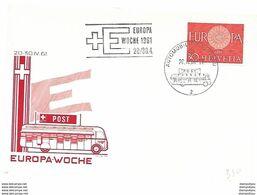 """166 - 77 - Carte PEN Avec Oblit Spéciale """"Semaine Européenne"""" 1961 - Europese Gedachte"""