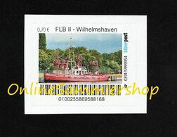 BRD - Privatpost - Biberpost - Feuerlöschboot Fire Ship - Museumsschiff Wilhelmshaven - Sapeurs-Pompiers