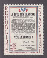 TIMBRE FRANCE N° 1408 NEUF ** - Nuovi