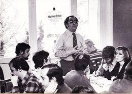 BERE31 PALAISEAU (1) Pierre BERREGOVOY Réunion Propositions Parti Socialiste Nucléaire 1980s Photo GUENA 30x22 - Personalità