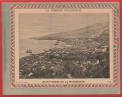 Protége Cahier Ancien La France Coloniale Saint - Pierre De La MARTINIQUE - Book Covers