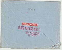 ESC 15 M. Alexandrie G Avec étiquette Au Verso  -> France 1929 - Egypt