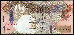 Qatar 2008 10 Riyals EF/XF See Explain Voir Explications - Qatar