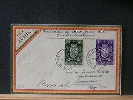 90/852 LETTRE BELGE POUR AMSTERDAM  1946   1° VOL - Airmail