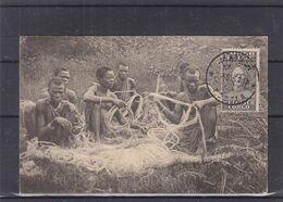 Congo Belge - Carte Postale De 1931 - Oblit Matadi - Exp Vers Anvers - Corderie - Torsion Des Fibres - Kamembe - Congo Belge