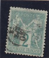 /// FRANCE -- TYPE SAGE -- 2 Cts Vert  N° 74  Côte 30€ - 1876-1898 Sage (Tipo II)