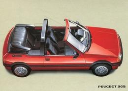 Peugeot 205 Cabrio,Werbekarte Peugeot, Ungelaufen - Turismo