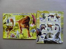 SALE! GUINEA BISSAU 2005 Animals Dinosaur Dinosaurs Minerals - Guinea-Bissau
