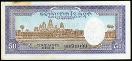 Cambodge Cambodia 1972 50 Riels AU UNC See Explains - Cambogia