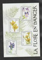 """FRANCE / 2019 / Y&T N° 5321/5324 ** En Bloc Ou F5322 ** (Feuillet """"Flore En Danger"""") X 1 - Ungebraucht"""