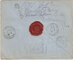 ESC Recommandée Kronberger 30 M. Port Saïd R-> Remise Difficile France 1929 - Brieven En Documenten