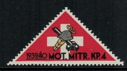 Suisse /Schweiz/Switzerland // Vignette Militaire // Troupe Motorisée, Mot.Mitr.Kp.4 - Viñetas