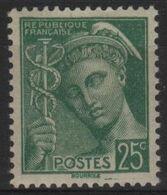 FR 1777 - FRANCE N° 411 Neuf* Mercure - 1938-42 Mercurio
