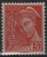 FR 1778 - FRANCE N° 412 Neuf** Mercure - 1938-42 Mercurio