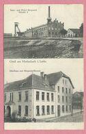 57 - GRUSS Aus  MERLENBACH - FREYMING-MERLEBACH - Saar Und Mosel-Bergwerk Schacht V - Schulhaus - Freyming Merlebach