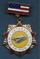 Médaille émaillée Des Etats Unis - Vétéran - War In The Gulf - Médailles & Décorations