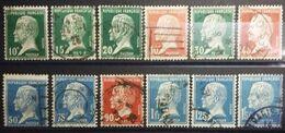 Timbres France 1923-26. Type Pasteur N°170 à 181, 12 Valeurs (USED) - 1922-26 Pasteur