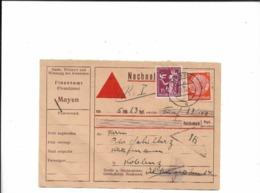 Nachnahmekarte Aus Mayen Nach Koblenz 1935 - Deutschland