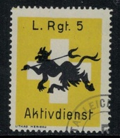 Suisse /Schweiz/Switzerland // Vignette Militaire // Troupe Légères. Leichte Rgt.5 - Viñetas