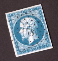 Napoléon III N° 14A Bleu - Oblitération Losange PC - 1853-1860 Napoléon III.