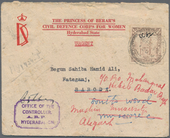"""Indien - Feudalstaaten - Hyderabad: HYDERABAD-Officals 1934-44: Printed Envelope For """"THE PRINCESS O - Hyderabad"""