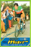 Francesco MOSER , Autographe Manuscrit, Dédicace. 2 Scans. Cyclisme. Famcucine - Cycling