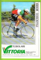 Francesco MOSER , Champion D'Italie. 2 Scans. Cyclisme. Famcucine, Tubolari Vittoria - Radsport