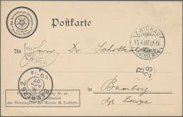 """Thematik: Luther: 1907 Deutsches Reich Postkarte M. Eindruck """"Kgl. Kommission Zur Herausgabe Der Wer - Teologi"""