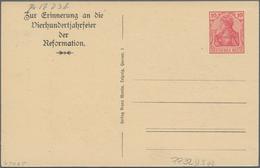 Thematik: Luther: 1917 Deutsches Reich 400 Jahrfeier Der Reformation Privatpostkarte 10 Pf Germania - Teologi