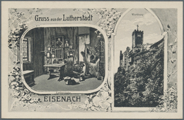 """Thematik: Luther: 1921, Dt. Reich. Privat-Postkarte 15 Pf Germania """"Festpostkarte Zur 400jährigen Lu - Teologi"""