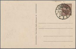 """Thematik: Luther: Dt. Reich, Privat-Postkarte 400 M Ziffer """"Zur Erinnerung An Den Lutherischen Weltk - Teologi"""