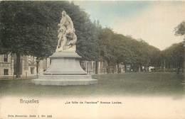 Bruxelles - La Fuite De L' Esclave Avenue Louise - Couleur - Nels Série 1 N° 243 - Bauwerke, Gebäude
