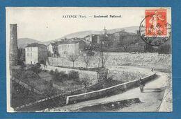 FAYENCE BOULEVARD NATIONAL 1918 N°866 - Fayence