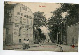 92 SURESNES  Rue Du Mont Valerien HOTEL Vins Café Restaurant  1910    D16 2020 - Suresnes