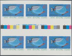 Kokos-Inseln: 1995 Kokosinsel, Freimarken Fische 3 Werte In UNGEZÄHNTEN Postfrischen Zwischensteg-Se - Kokosinseln (Keeling Islands)