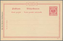 Deutsche Schiffspost - Marine - Ganzsachen: Essay Für Marine-Schiffspostkarte Aufdruck Links Seitlic - Allemagne