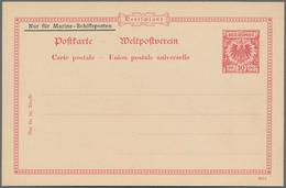 Deutsche Schiffspost - Marine - Ganzsachen: Essay Für Marine-Schiffspostkarte Aufdruck Links Oben In - Allemagne
