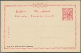 Deutsche Schiffspost - Marine - Ganzsachen: Essay Für Marine-Schiffspostkarte Aufdruck Links Unten I - Allemagne